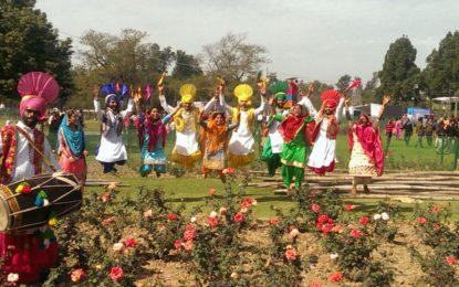चंडीगढ़ में गुलाब महोत्सव के दौरान NZCC से कलाकारों द्वारा सांस्कृतिक कार्यक्रम